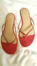 Banana Republic Sandals Flip Flops Flats Slip Ons RED Thongs 8  8.5