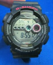 Casio 3263 G-Shock Men's Watch Gd100 All Black Resin Digital Sport Military 50mm