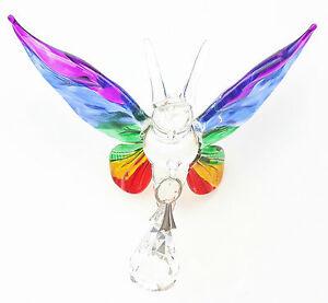 Fantasy Bicchiere Farfalla Suncatcher Con uno Swarovski Cristallo - Arcobaleno