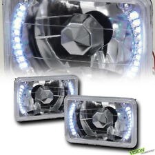 4X6 Crystal Chrome Glass Lens White Led Headlights H4 H4651 H4652 H4656 H466 Vc3