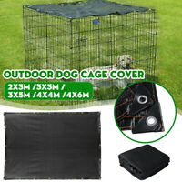 Outdoor Pet Dog Crate Cage Cover Windproof Waterproof Sun Shade Kennel 5 Sizes