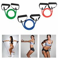 EL Fitness Resistance Band Rope Tube Elastic Exercise for Yoga Pilates Workout