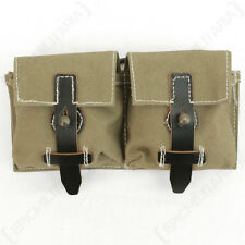 G43 Ammo Pouch - Tan WW2 Repro German Webbing Bag Carrier Case Soldier Magazine