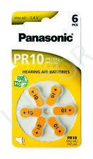 60 Stück Panasonic Luft Zink Batterien, Batterie für Hörgeräte Typ PR 10