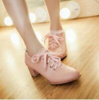 Sweet Womens Lace Block Kitten Lace Up Wedding Ankle boots Lolita Lace Shoes New