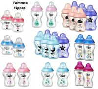 Tommee Tippee Closer to Nature 150ml/ 260ml/ 340ml Decorated Bottles Blue / Pink