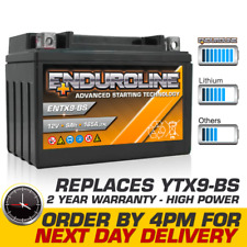 Ytx9-Bs High Power Enduroline Motorcycle Bike Battery - More Power than Lithium (Fits: Benelli)