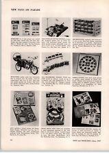 1957 PAPER AD Evans Pedal Car Moto Trike Cox Prop Rod Race Car Nylint Crane