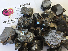 Noble Elite Silver Shungite Rough Stone QTY 2 oz Healing Crystal Purification
