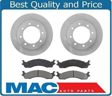 For 1995-1997 Ford F250 F350 Frront Brake Rotors & Ceramic Brake Pads 8 LUGS!!