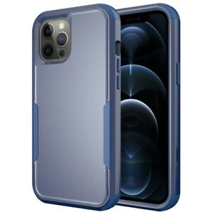Case For iPhone 12 Pro Max 6 7 8 11 Plus XS XR X BLUE Shockproof Rugged Cover