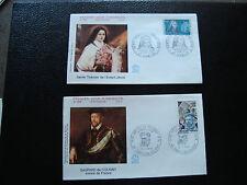 FRANCE - 2 envelopes 1st day 1973 (ste-thérèse /coligny) (cy59) french (A)