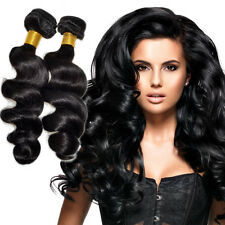 100% Virgin Brazilian Loose Wave Human hair Extension 100g Bundle& Deal 9A Black