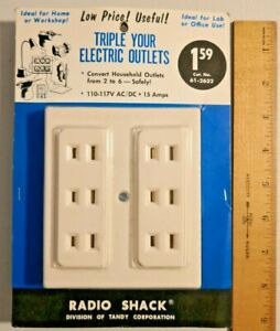 Vintage Radio Shack Triple your Electric Outlets Made in Japan Rare --  599