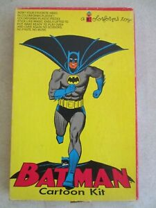 VINTAGE BATMAN CARTOON KIT COLORFORMS TOY IN BOX COMPLETE