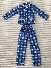 BJD Dollfie SD 1/3 blue pajama set sleepwear dots warm winter