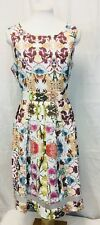 Floral Garden Party Tea Dress. Size 8. Fully Lined. Excellent.