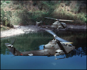 US Army AH-1S Cobra Helicopters 17th Air Cavalry Brigade 1988 8x10 Photos