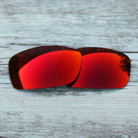 Inew Fire Red  Polarized Replacement lenses for-Oakley Fives Squared