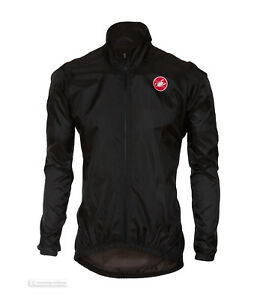 Castelli SQUADRA ER Jacket Lightweight Windproof Cycling Wind/Rain Shell : BLACK