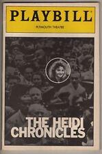 """""""The Heidi Chronicles"""" Playbill 1989  Joan Allen, Cynthia Nixon, Boyd Gaines"""
