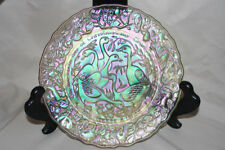 Carnival Glass Collector Plate Imperial Glass #6 Six Geese A Laying 1975