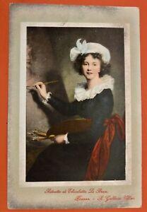 Italia Cartolina Viaggiata 1912 - Ritratto di Elisabetta Le Brun