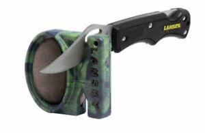Lansky Quick Fix Pocket Knife Sharpener, Carbide & Ceramic, Camo #LCSTC-CG