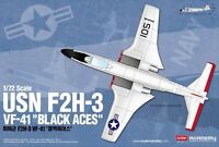 Academy USN F2H-3 VF-41 Black Aces 1/72 scale model airplane kit new 12548