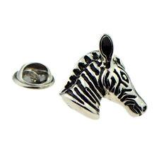 Zebra Head Safari Animal Pin Badge, Tie Pin / Lapel Pin Badge X2AJTP674