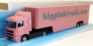 Corgi 1/64 Scale Diecast TY86657 - Scania Isabelle Box Truck - Big Pink