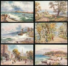 ISLE of WIGHT TUCKS OILETTE 7571 SET of 6 RYDE THEATRE CASTLE etc ARTIST WIMBUSH