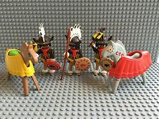 Playmobil - 3 Native American Indian Minifigura Western Plus 2 caballos