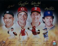 Berra, Bench, Fisk & Carter Autographed HOF Catchers 16x20 Photo Steiner Aut