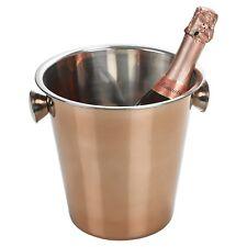 Gran Oro Rosa Acero Inoxidable Champán Vino Cerveza Cubo de Hielo Enfriador De Fiesta Nuevo