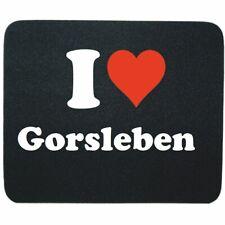 Mauspad I Love Gorsleben in Schwarz Gaming Mousepad Weihnachten
