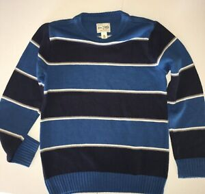 Boys Long Sleeve Sweater Medium 7-8 Childrens Place Teal/Navy Stripe