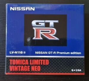 TOMICA LIMITED VINTAGE NEO NISSAN GT-R PREMIUM EDITION BLUE 1:64 SCALE LV-N116