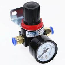 Compressor Air Pressure Gauge Relief Regulating Regulator Valve with 6mm Fitting