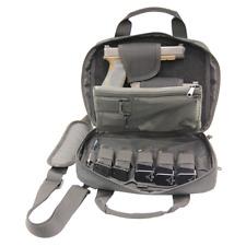 Double Pistol Case Hand Gun Bag Tactical Storage Pocket Magazine Shooter Carry