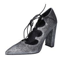 scarpe donna ISLO ISABELLA LORUSSO 38 EU decolte argento glitter BZ216-C
