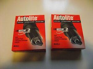8 Spark Plugs Resistor Copper Autolite 4063 Abarth Lamborghini Maseriti Renault