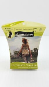 New No Nonsense Ultimate Shapers - Shaping Waist To Mid-Thigh LARGE Color: BLACK