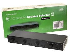 4-Channel A/B Speaker Selector w/ Volume Control - 8232