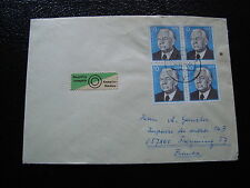 ALLEMAGNE RDA lettre 31/12/75 - timbre stamp germany (cy1)