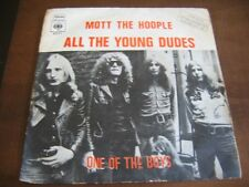 MOTT THE HOOPLE all the young dudes DAVID BOWIE   ISRAEL ONLY  ISRAELI P/S