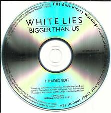 WHITE LIES Bigger Than Us w/ RARE RADIO EDIT TST PRESS PROMO RADIO DJ CD single