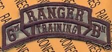 6th RTB AIRBORNE RANGER School Cadre scroll patch ACU