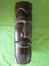 Sculpture Art Africain tête personnage bois ébène décoration hauteur 26,2 cm