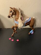 Vintage Barbie Dream Horse Star Stepper Brown with some Accessories
